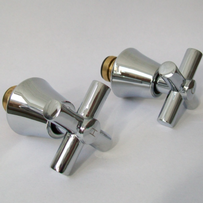 Chrome Minimalist Cross Top Tap Heads and Bodies - 54015199